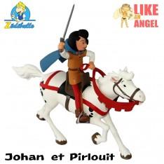 Johan et son cheval + Pirlouit et Biquette