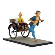 Tintin et Milou dans le pousse-pousse